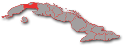 Artemisa and Mayabeque provinces - geographic location in Cuba
