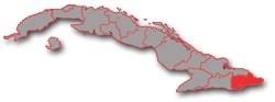 Guantanamo province - geographic location in Cuba
