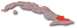 Holguin province - geographic location in Cuba