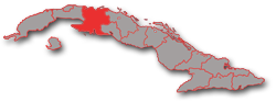 Matanzas province - geographic location in Cuba