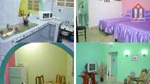 Here you see all rooms of this flat in Centro Habana, Cuba