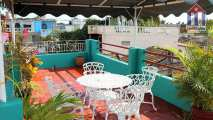 The beautiful roof terrace of this bnb in Trinidad with stunning views