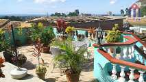 "Panoramic views from the roof terrace of the ""Hostal Barceló"" in Trinidad Cuba"