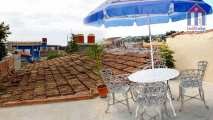 On the roof is a terrace to enjoy the views on fresh air - Hostel in Trinidad