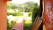 From the terrace you can already see the Mogote mountains of Vinales