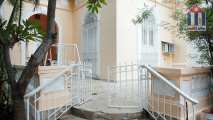 Staircases leading to the entrance to this great holiday house in Vedado Havana