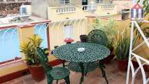 "The private terrace of one of the two rooms of ""Hostel Ana"" in Trinidad"
