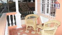 In the upper floor we have this balcony with views towards the old town
