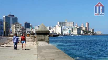 Waterfront Malecon Havana Vedado district