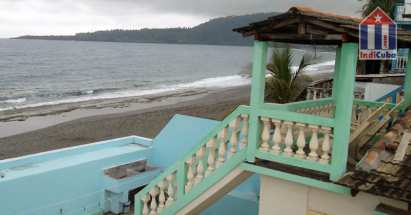 "The casa particular  ""Atlantis"" is located on the beach in Baracoa"