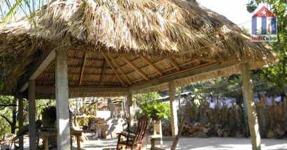 The large, covered terrace of this casa in Playa Siboney of Mr. Andres Ruiz