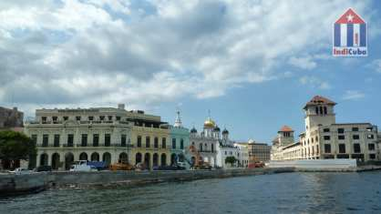 Port of Old Havana with Russian Orthodox Church