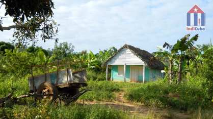 Rural area with a small house in Vinales Cuba