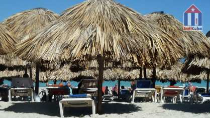 Varadero beach with parasols
