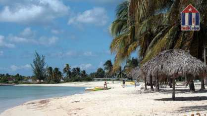 Playa Giron beach in the south of the Cuban Matanzas province