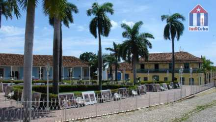 Main square in the old town of Cuba Trinidad - Plaza Mayor